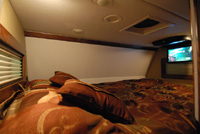 Bunk with drop down TV